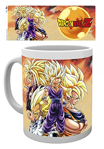 Set: Dragonball Z, Super Saiyans Tazza Da Caffè Mug (9x8 cm) E 1 Sticker Sorpresa 1art1®