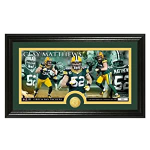 Green Bay Packers Clay Matthews Bronze Coin Panoramic Photo Mint