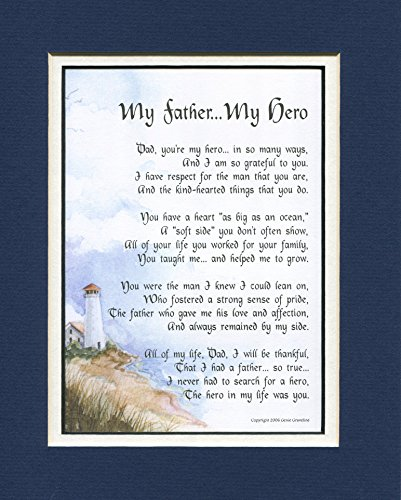 My Father My Hero, #18, A Gift For A Father Poem,Dad's 50th 60th 65th 70th 80th Birthday
