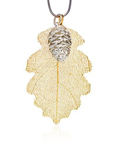 Ana Natural Leaves Conjunto 24 Oro / Plata