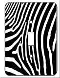 Zebra Skin Print Wall Plate Switchplate Cover Single Toggle Switch Plate Lightswitch