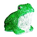 XEPA EHX-AF001 Whimsical LED Illuminated Acrylic Frog Sculpture, Green