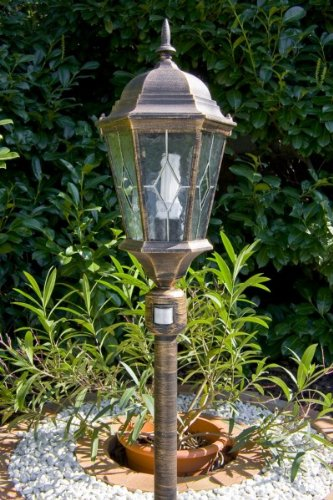 Outdoor Lamp Post Garden Lantern Sensor Light