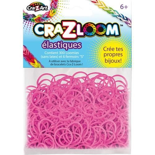 The Cra-Z-Art Shimmer 'N Sparkle Cra-Z-Loom Fashion Colors Rubber Band Refills - Bright Pink