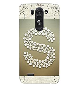 "ColourCraft Alphabet ""S"" Design Back Case Cover for LG G3 BEAT"