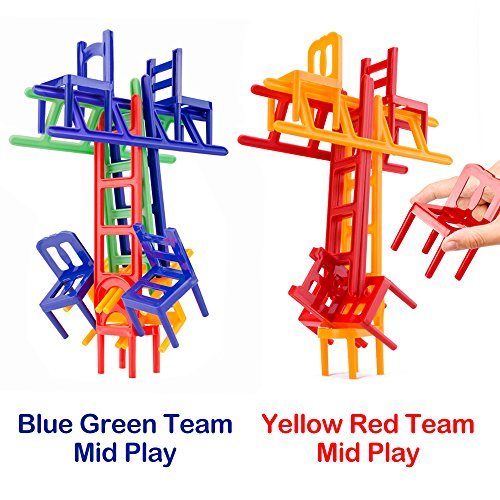 Chairs and Ladders Game. 44 Individual Pieces. Family Game Stack and Balance the Most. (Cool Circuits Jr compare prices)