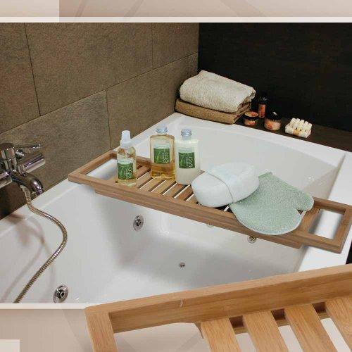 BAMBUS Badewannenablage Badewannenaufsatz Wannenablage aus Bambus Badewannen Ablag