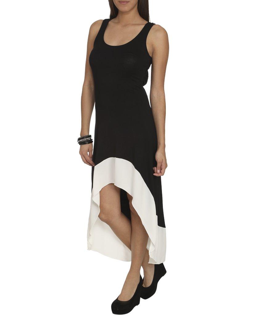 Wet Seal Women's Colorblock Hem Keyhole Dress: