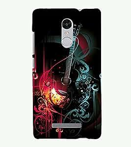 PRINTSHOPPII GUITAR MUSIC Back Case Cover for Xiaomi Redmi Note 3