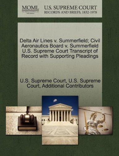 delta-air-lines-v-summerfield-civil-aeronautics-board-v-summerfield-us-supreme-court-transcript-of-r