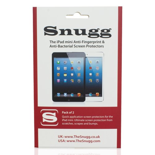 Snugg iPad Mini Anti Fingerprint and Anti Bacterial Screen Protectors