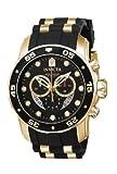 Invicta Mens 6981 Pro Diver Collection Chronograph Black Dial Black Dress Watch
