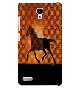 Fuson 3D Printed Horse Designer back case cover for Xiaomi Redmi Note - D4572