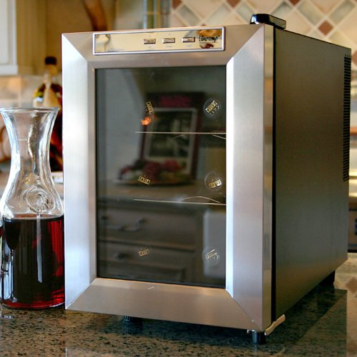 6 Bottle Single Zone Thermoelectric Wine Refrigerator Warranty: 1 Year