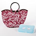 Nantucket Insulated Lunch Bag with Ice Pack - Pink & White All Over Floral