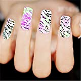 Highsun 2 Packs Nail Art Nail Companion Water Transfer Nail Art Decal Manicure Decals Nail Jewelry Nail Stickers