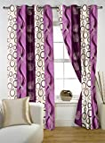 "Story@Home Eyelet Fancy Polyester 2 Pc COMBO Ringtop Eyelet Designer Door Curtains,  7 ft  46 "" X 84 ""  Pink"