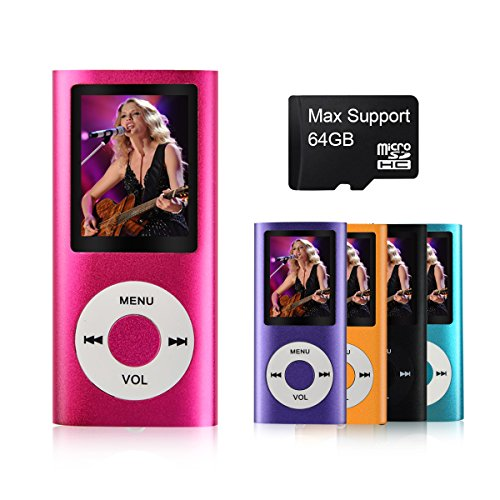 MYMAHDI - Digital, Compact and Portable MP3 / MP4 Player ( Max support 64 GB Micro SD Card ) with Photo Viewer, E-Book Reader and Voice Recorder and FM Radio Video Movie in Pink (Ipod For Kids compare prices)
