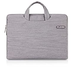 PLEMO Denim Fabric 13-13.3 Inch Laptop / Notebook Computer / MacBook / MacBook Pro / MacBook Air Case Briefcase Bag Pouch Sleeve, Grey