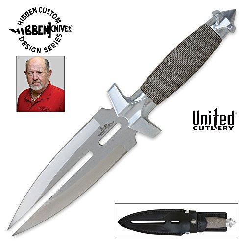 United Cutlery GH0453 Gil Hibben Silver Double Shadow Knife with Sheath