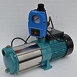Kreiselpumpe Hauswasserwerk Jetpumpe Gartenpumpe mit Schaltautomaitk 1300 Watt 6000 L