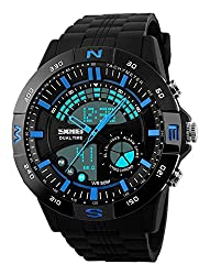 Skmei Analog-Digital Black Dial Mens Watch - 1110