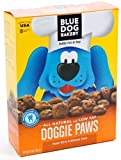 Blue Dog Bakery Natural Low Fat Dog Treats, Peanut Butter & Molasses Flavor Doggie Paws, 10-Ounce Boxes (Pack of 6)