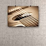 ArtzFolio guitar music Canvas Art Print with Frame - Size 25.1 inch x 16.7 inch