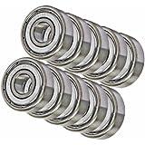10 Stainless Steel Bearing SR188ZZ Shielded 1/4 x 1/2 x 3/16 inch Miniature Ball Bearings VXB Brand