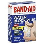 Band Aid Water Block Plus Adhesive Bandages, Finger Care, Assorted, 20 bandages