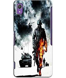 EU4IA MULTICOLOR MATTE FINISH 3D MATTE FINISH Back Cover Case For Sony Xperia Z2 - D604