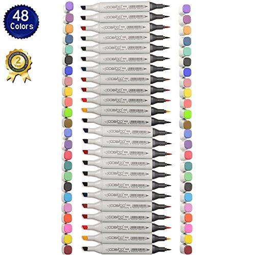 magicdor-12-24-pezzi-bianco-nero-set-pennarelli-colorato-impermeabile-e-lavabile-profumo-doppia-punt