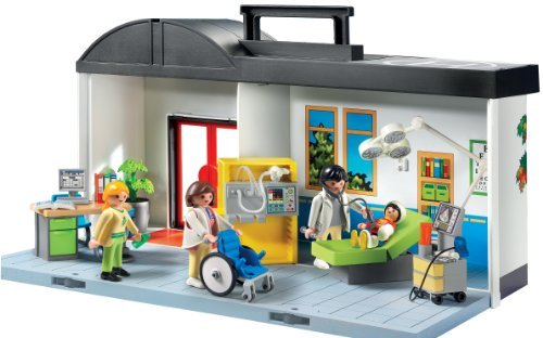 Price for playmobil take along hospital toy kids play children