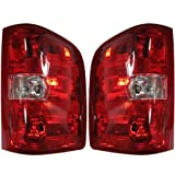 2007-2012 Chevrolet/Chevy Silverado & GMC Sierra 1500 2500 3500 Heavy Duty Pickup Truck HD Full Size (2010-2012 models with 3047 Backup Bulb ONLY) Taillight Taillamp Rear Brake Tail Light Lamp Set Pair Left Driver And Right Passenger Side (2007 07 2008 08 2009 09 2010 10 2011 11 2012 12)