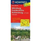 Würzburg - Frankenhöhe - Rothenburg o. d. Tauber - Hohenlohe: Fahrradkarte. GPS-genau. 1:70000 (KOMPASS-Fahrradkarten Deutschland)