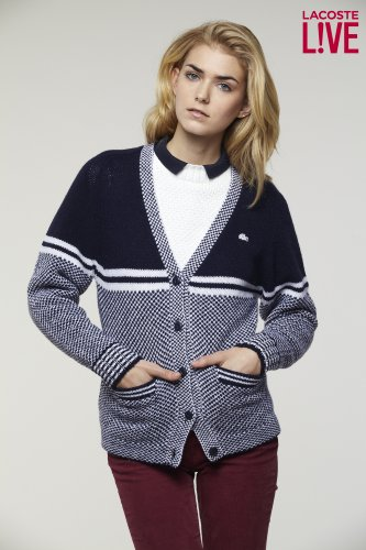 L!VE Jacquard Cardigan