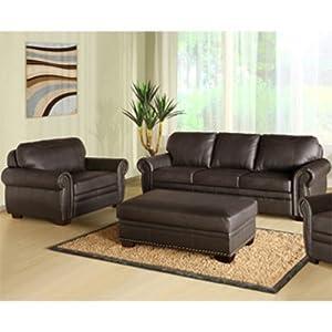 Phenomenal Sale Y Abbyson Living Austin Premium Leather Sofa Chair Machost Co Dining Chair Design Ideas Machostcouk