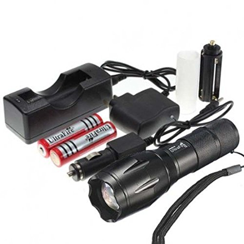Cree Xml T6 Led Flashlight 5 Mode Zoomable Torch With Battery And Charger (Flashlight Kits)
