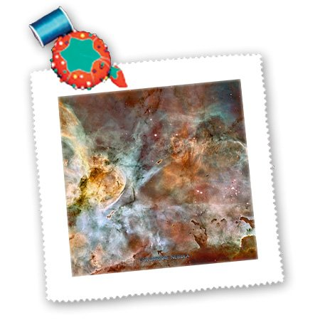 Qs_76816_5 Sandy Mertens Space Gallery - Galaxy And Nebula - Eta Carinae Nebula By Nasa Hubble Telescope - Quilt Squares - 14X14 Inch Quilt Square