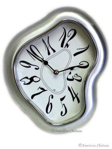 Retro Silver Modern Metal Salvador Dali Wall ClockB001D3TH1Q : image