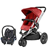 Quinny Buzz Xtra Red Rumour with Cabriofix Total Black