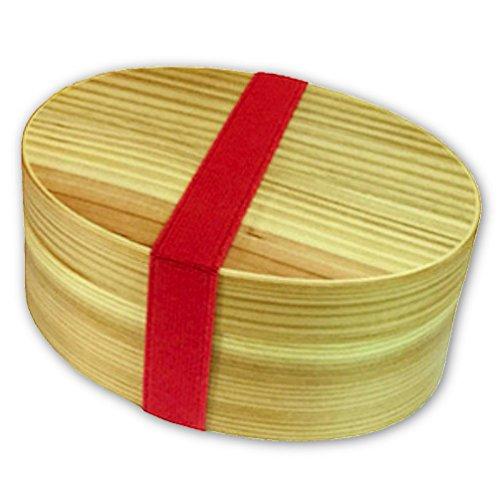 【e-lynk】曲げわっぱ お弁当箱 レディース サイズ 天然 木製 漆 ナチュラル【防水ランチバッグ&ランチバンドセット♪】
