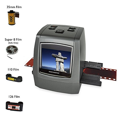Magnasonic-All-In-One-High-Resolution-22MP-Film-Scanner-Converts-126KPK135110Super-8-Films-Slides-Negatives-into-Digital-Photos-Vibrant-24-LCD-Screen-Impressive-128MB-Built-In-Memory-FS50