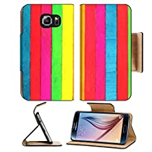 buy Msd Samsung Galaxy S6 Flip Pu Leather Wallet Case Colorful Wood Image 23782536