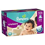Pampers Cruisers Diapers Economy Plus Pack, Size 4, 152 Count (One Month Supply)