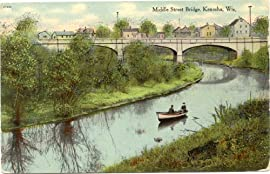 1909 Vintage Postcard Middle Street Bridge - Kenosha Wisconsin