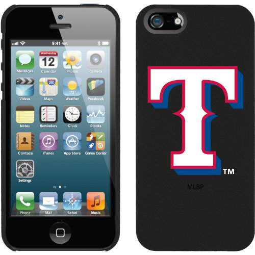Best Price Texas Rangers - T design on a Black iPhone 5s / 5 Thinshield Snap-On Case by Coveroo