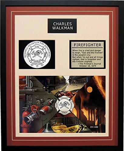Bushnell Volunteer Fire Department Florida Framed Artwork Print Burgundy