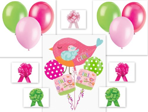 16 Piece Tweet Baby Girl Balloon Baby Shower Birthday Party Pack front-886967
