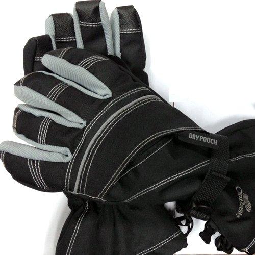 1STDOOR スノーボード・スキー 防寒・防水 グローブ(手袋) NASA技術の暖かいアウトラスト素材採用、防寒・防水グローブ 黒 (M)